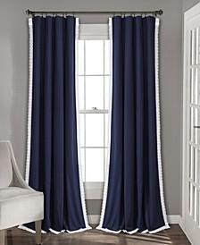 """Rosalie 54"""" x 108"""" Lace Trim Curtain Set"""