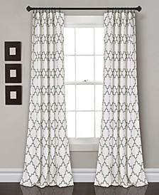 "Bellagio 52"" x 95"" Geometric Print Curtain Set"