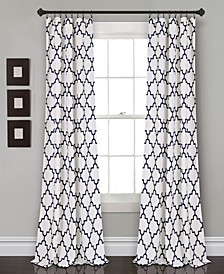 "Bellagio 52"" x 108"" Geometric Print Curtain Set"
