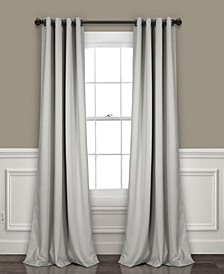 """Insulated 52"""" x 120"""" Blackout Curtain Set"""