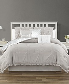 Jessica Ruffled 7 Piece Queen Comforter Set