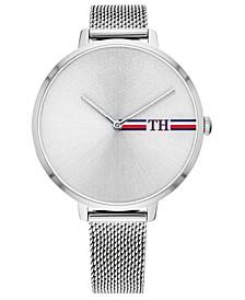 Women's Stainless Steel Mesh Bracelet Watch 38mm, Created For Macy's