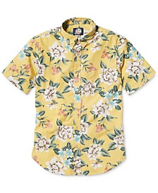 Reyn Spooner Men's Tailored-Fit Hou Pua Nui Floral Short Sleeve Shirt