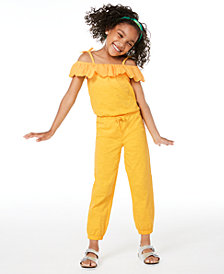 Epic Threads Toddler Girls Embroidered Off-The-Shoulder Jumpsuit, Created for Macy's