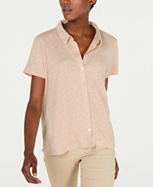 Eileen Fisher Button Down Organic Cotton Shirt