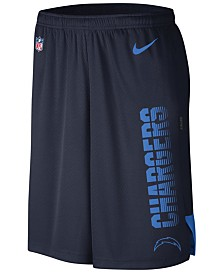 Nike Men's Los Angeles Chargers Player Knit Breathe Shorts