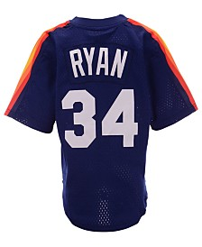 Mitchell & Ness Big Boys Nolan Ryan Houston Astros Mesh V-Neck Player Jersey