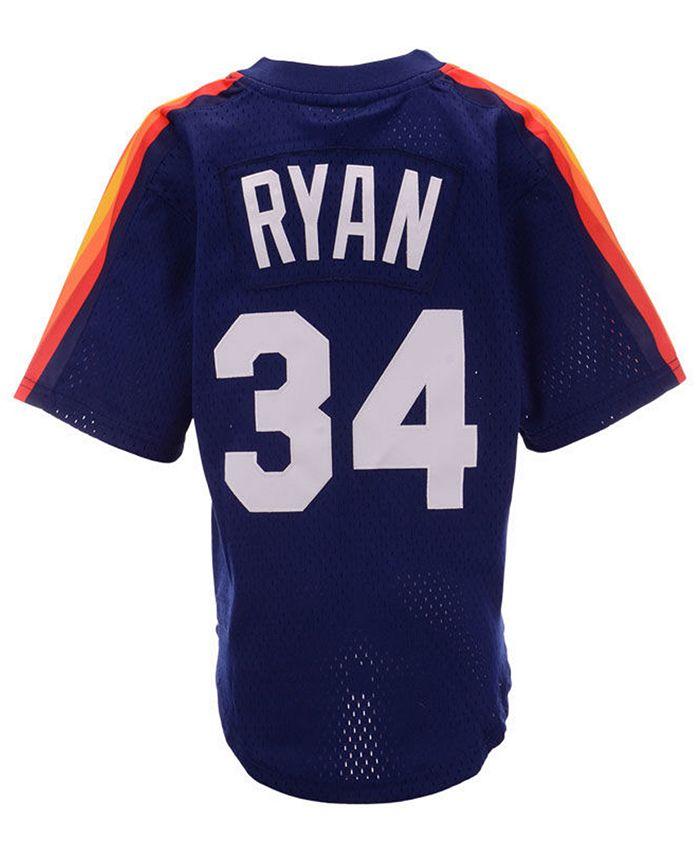 Big Boys Nolan Ryan Houston Astros Mesh V-Neck Player Jersey