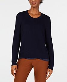 Textured Tencel Pullover Sweater, Regular & Petite