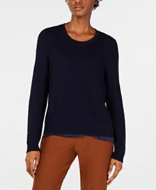 Eileen Fisher Textured Tencel Pullover Sweater, Regular & Petite