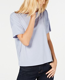Eileen Fisher Boat-Neck Boxy Tencel Top, Regular & Petite