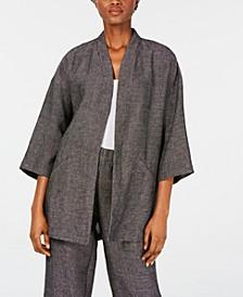 Micro-Check Kimono Jacket