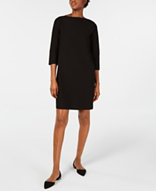 Eileen Fisher Boat-Neck Shift Dress