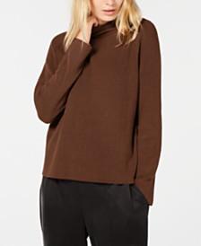 Eileen Fisher Mock-Neck Organic Cotton Sweater, Regular & Petite
