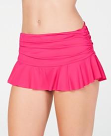 Lauren Ralph Lauren Ruffle-Hem Slimming Fit Swim Skirt