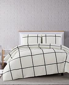 Truly Soft Kurt Windowpane Twin XL Comforter Set
