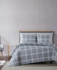 Truly Soft Leon Plaid Twin XL Quilt Set