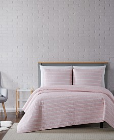 Truly Soft Maddow Stripe King Quilt Set