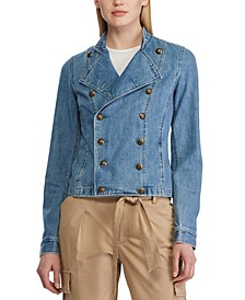 Petite Denim Officer's Jacket