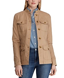 Petite Utility-Look Canvas Jacket