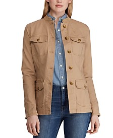 Lauren Ralph Lauren Petite Utility-Look Canvas Jacket