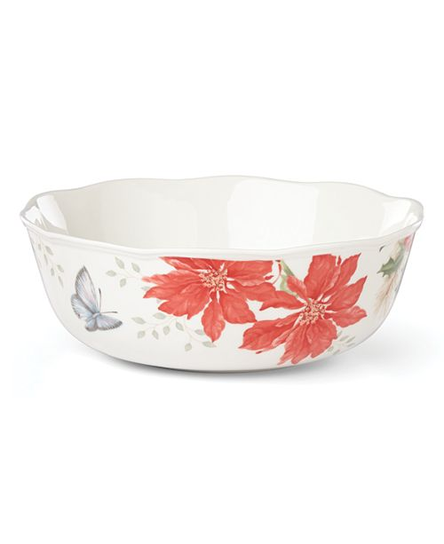 Lenox Butterfly Meadow Holiday Serving Bowl, Created for Macys