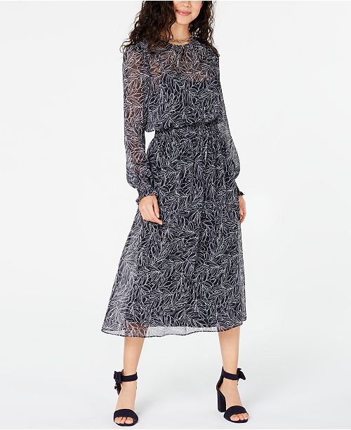Tommy Hilfiger Floral Fit & Flare Dress, Created for Macy's