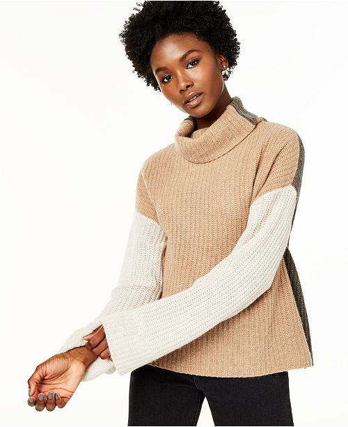 Charter Club Cashmere Colorblocked Sweater, Created for Macy's