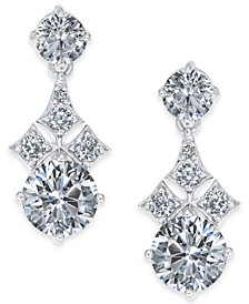 Danori Cubic Zirconia Drop Earrings, Created for Macy's