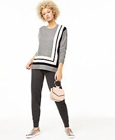 Cashmere Sweater & Jogger Pants, Regular & Petite Sizes, Created for Macy's
