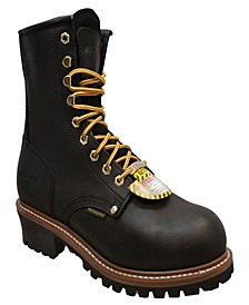 "Men's 9"" Water Resistant Steel Toe Logger Boot"