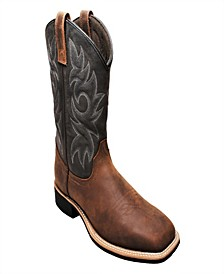 "Men's 12"" Work Western Square Toe Boot"