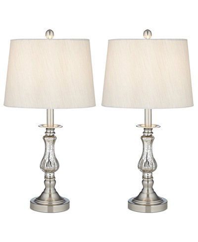 Pacific coast set of 2 mercury glass table lamps