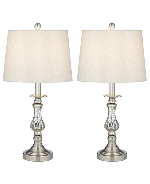 Kathy Ireland Pacific Coast Set of 2 Mercury Glass Table Lamps