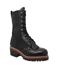 "AdTec Men's 10"" Fireman Logger Boot"