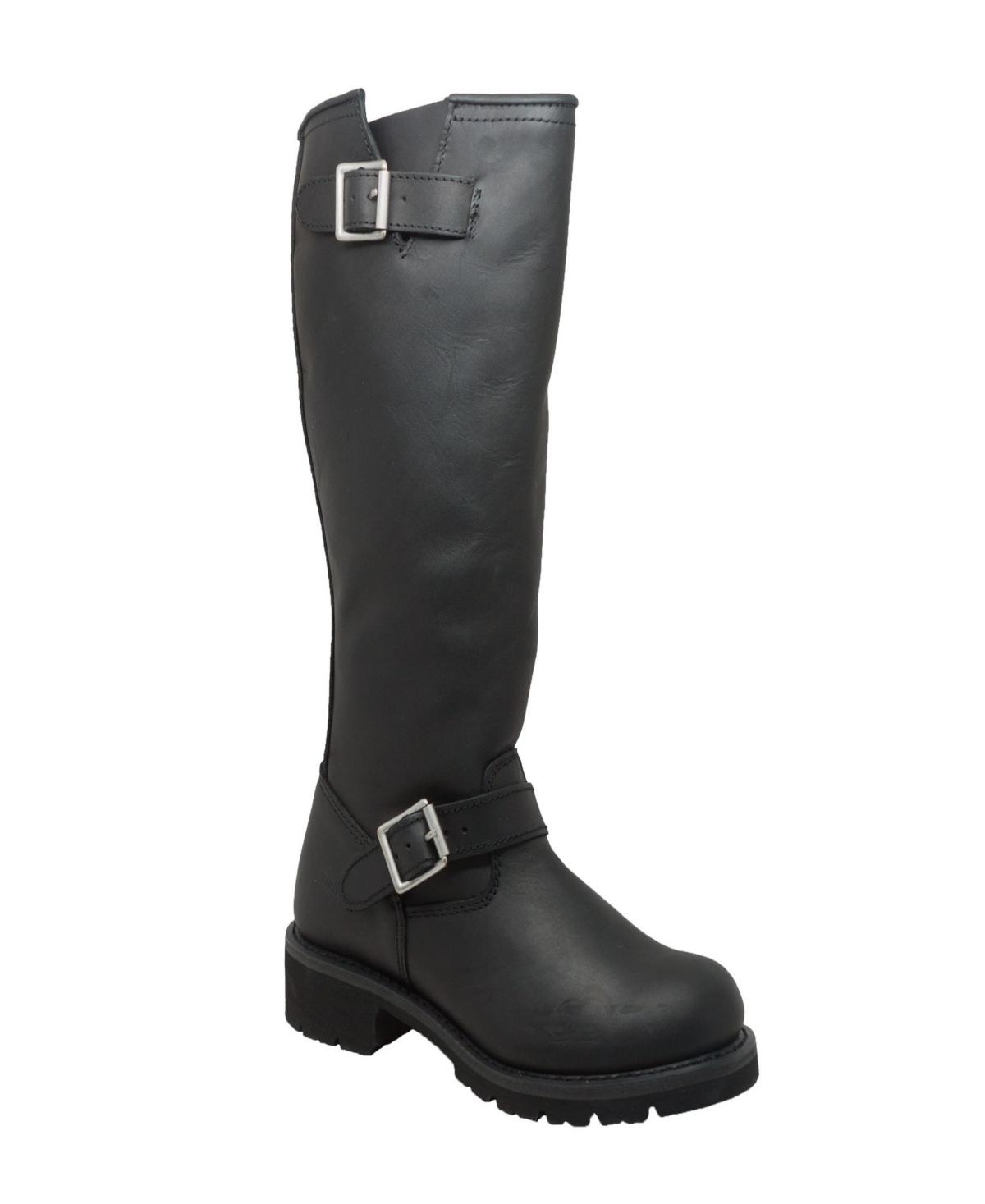 """AdTec Men's 16"""" Engineer Biker Boot Men's Shoes"""