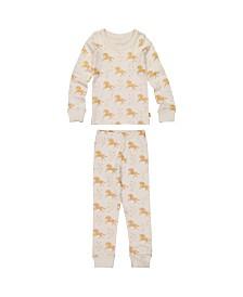 Masala Baby Kids Organic Pajama Set Unicorn Stars