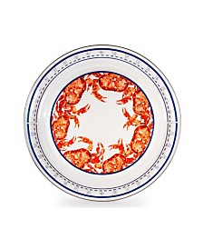 """Golden Rabbit Crab House Enamelware Collection 20"""" Serving Tray"""