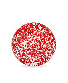 "Red Swirl Enamelware Collection 10.5"" Dinner Plate"
