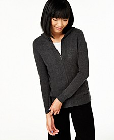 Cashmere Zip-Front Hoodie, Regular & Petite Sizes, Created For Macy's