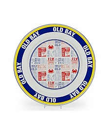 """Golden Rabbit Old Bay Enamelware Collection 12.5"""" Charger Plate"""