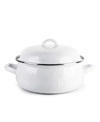 Solid White Enamelware Collection 4 Quart Dutch Oven