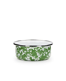 Golden Rabbit Green Swirl Enamelware Collection Soup Bowl, 14oz