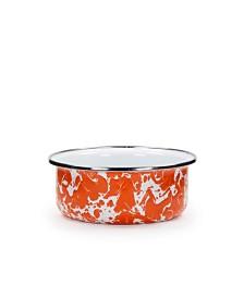 Golden Rabbit Orange Swirl Enamelware Collection Soup Bowl, 14oz