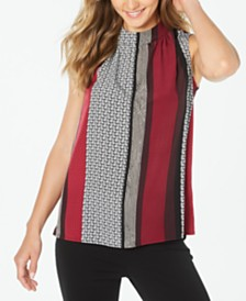 Alfani Colorblocked Sleeveless Top, Created for Macy's