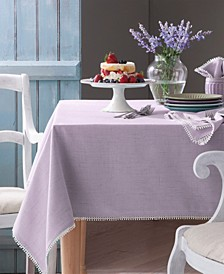 French Perle Violet Table Linen Collection