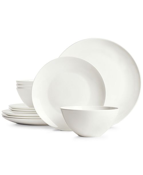 Hotel Collection Coupe 12-Pc. Bone China Dinnerware Set, Created for Macy's