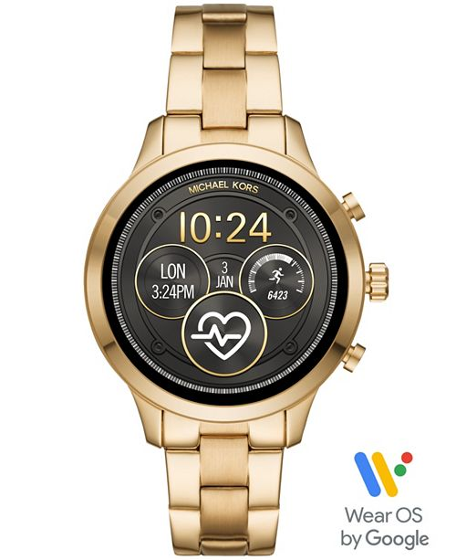 Michael Kors Access Unisex Runway Gold-Tone Stainless Steel Bracelet Touchscreen Smart Watch 41mm, Powered by Wear OS by Google™