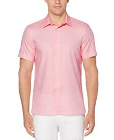 Perry Ellis Men's Dobby Striped Shirt