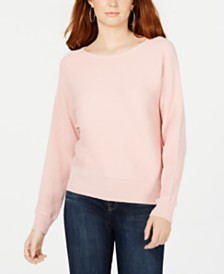 Hooked Up by IOT Juniors' Dolman-Sleeve Sweater
